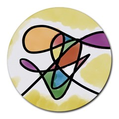 Abstract Art Colorful Round Mousepads