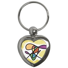Abstract Art Colorful Key Chains (heart)