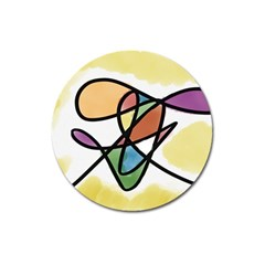 Abstract Art Colorful Magnet 3  (round)
