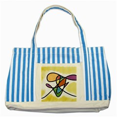 Abstract Art Colorful Striped Blue Tote Bag