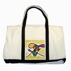 Abstract Art Colorful Two Tone Tote Bag