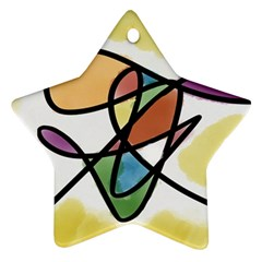 Abstract Art Colorful Star Ornament (two Sides)