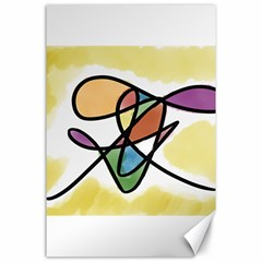 Abstract Art Colorful Canvas 24  X 36