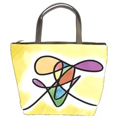 Abstract Art Colorful Bucket Bags