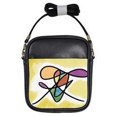 Abstract Art Colorful Girls Sling Bags