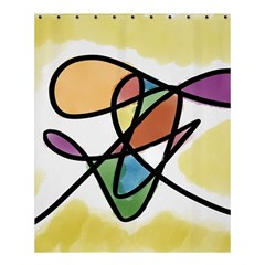 Abstract Art Colorful Shower Curtain 60  X 72  (medium)