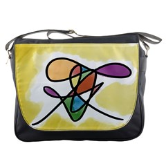 Abstract Art Colorful Messenger Bags