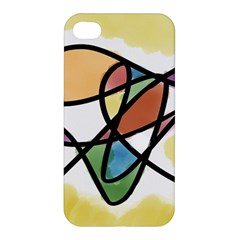 Abstract Art Colorful Apple Iphone 4/4s Premium Hardshell Case