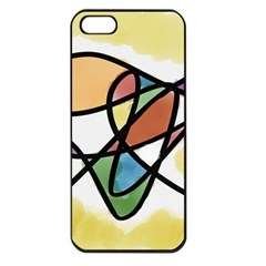 Abstract Art Colorful Apple Iphone 5 Seamless Case (black)