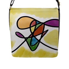 Abstract Art Colorful Flap Messenger Bag (l)