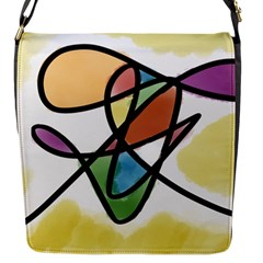 Abstract Art Colorful Flap Messenger Bag (s)