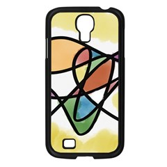 Abstract Art Colorful Samsung Galaxy S4 I9500/ I9505 Case (black)