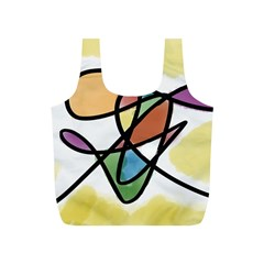 Abstract Art Colorful Full Print Recycle Bags (s)  by Modern2018