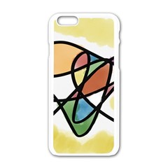 Abstract Art Colorful Apple Iphone 6/6s White Enamel Case