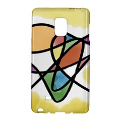 Abstract Art Colorful Galaxy Note Edge