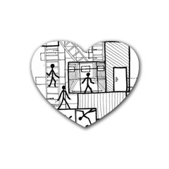 Drawing Rubber Coaster (heart)