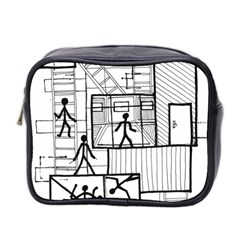 Drawing Mini Toiletries Bag 2 Side