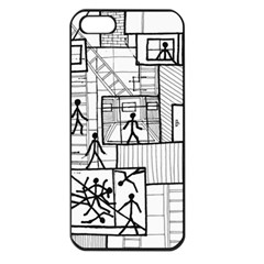 Drawing Apple Iphone 5 Seamless Case (black)