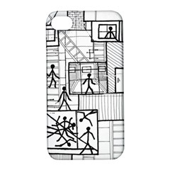 Drawing Apple Iphone 4/4s Hardshell Case With Stand