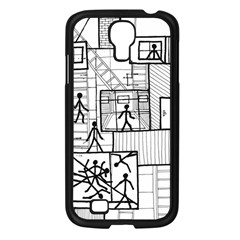 Drawing Samsung Galaxy S4 I9500/ I9505 Case (black)