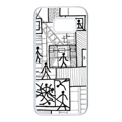 Drawing Samsung Galaxy S7 White Seamless Case