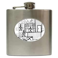 Drawing Hip Flask (6 Oz)