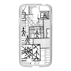Drawing Samsung Galaxy S4 I9500/ I9505 Case (white)