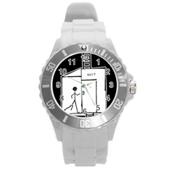 Drawing Round Plastic Sport Watch (l)