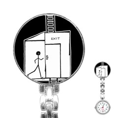 Drawing Stainless Steel Nurses Watch by ValentinaDesign