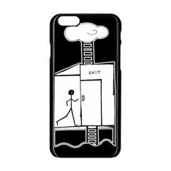 Drawing Apple Iphone 6/6s Black Enamel Case