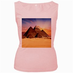 Ancient Archeology Architecture Women s Pink Tank Top