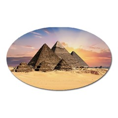 Ancient Archeology Architecture Oval Magnet