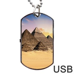 Ancient Archeology Architecture Dog Tag Usb Flash (two Sides) by Modern2018