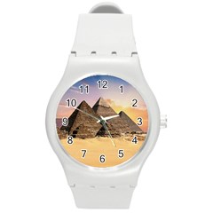 Ancient Archeology Architecture Round Plastic Sport Watch (m) by Modern2018
