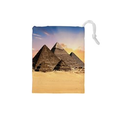 Ancient Archeology Architecture Drawstring Pouches (small)