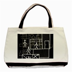 Drawing Basic Tote Bag (two Sides) by ValentinaDesign