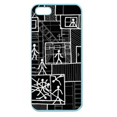 Drawing Apple Seamless Iphone 5 Case (color)