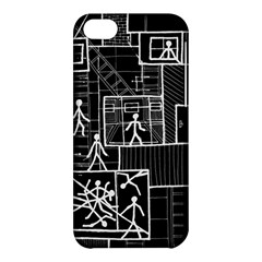Drawing Apple Iphone 5c Hardshell Case by ValentinaDesign