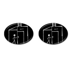 Drawing Cufflinks (oval) by ValentinaDesign