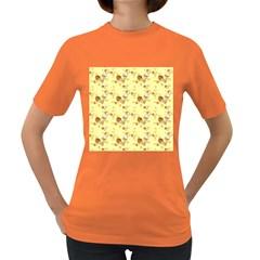 Funny Sunny Ice Cream Cone Cornet Yellow Pattern  Women s Dark T Shirt
