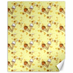 Funny Sunny Ice Cream Cone Cornet Yellow Pattern  Canvas 16  X 20