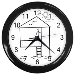 Drawing Wall Clocks (black)