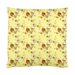 Funny Sunny Ice Cream Cone Cornet Yellow Pattern  Standard Cushion Case (one Side) by yoursparklingshop