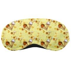 Funny Sunny Ice Cream Cone Cornet Yellow Pattern  Sleeping Masks