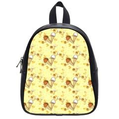 Funny Sunny Ice Cream Cone Cornet Yellow Pattern  School Bag (small)