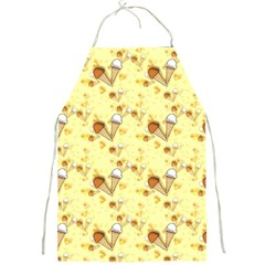 Funny Sunny Ice Cream Cone Cornet Yellow Pattern  Full Print Aprons