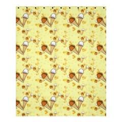 Funny Sunny Ice Cream Cone Cornet Yellow Pattern  Shower Curtain 60  X 72  (medium)