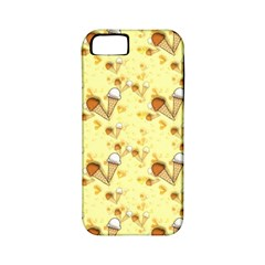 Funny Sunny Ice Cream Cone Cornet Yellow Pattern  Apple Iphone 5 Classic Hardshell Case (pc+silicone)