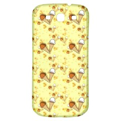 Funny Sunny Ice Cream Cone Cornet Yellow Pattern  Samsung Galaxy S3 S Iii Classic Hardshell Back Case by yoursparklingshop