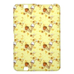 Funny Sunny Ice Cream Cone Cornet Yellow Pattern  Kindle Fire Hd 8 9